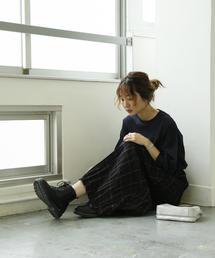 【ムック本掲載】クリンクルプリーツチェックスカート
