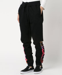 【STAPLE】ブランドロゴワッペン&刺繍 マルチ切替 スウェットパンツ イージーパンツ(パンツ)