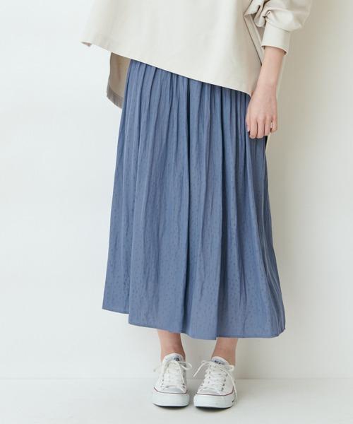 【THE CHIC】アニマルJQギャザースカート