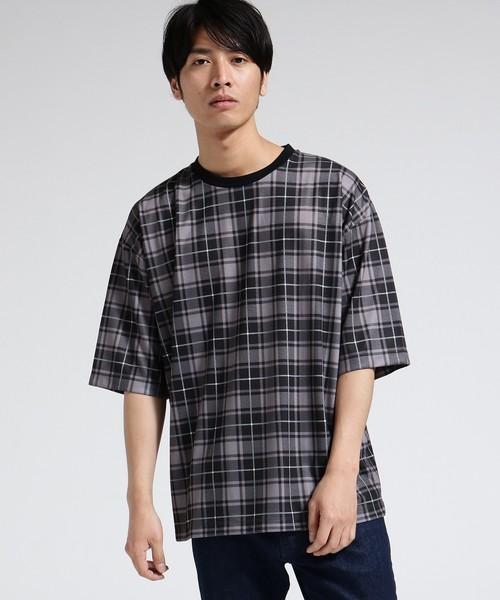 BIGチェックTシャツ