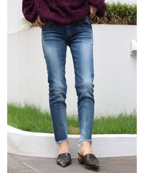 【送料無料/新品】 フレイドヘムストスリ(デニムパンツ) Ungrid(アングリッド)のファッション通販, 旅館の浴衣 美杉堂:81988b68 --- tsuburaya.azurewebsites.net