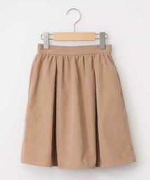 a.v.v(アー・ヴェ・ヴェ)の[100-130]ポケット付きマットギャザースカート[WEB限定サイズ](スカート)