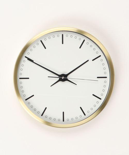 SPICE OF LIFE(スパイス オブ ライフ)の「EDGE 壁掛け時計 SIMPLE ゴールド 23cm(掛け時計)」|ゴールド