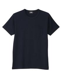 HYS CLUBポケット付きTシャツネイビー