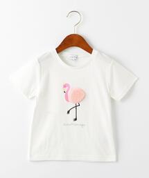 フラミンゴモチーフTシャツ