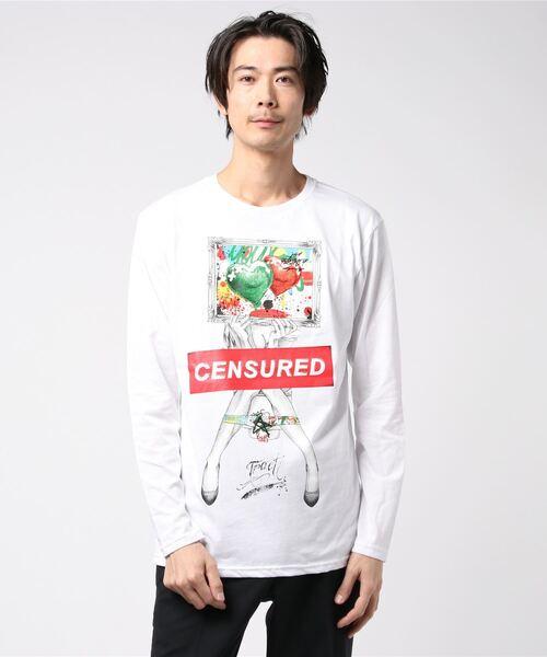 Tract(トラクト)の「ART FOR LOVE LONG T-SHIRT(Tシャツ/カットソー)」 ホワイト