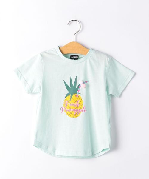 パイナップルモチーフプリントTシャツ