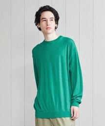 <H>CASHMERE RELAX CREW NECK PULLOVER/ニット