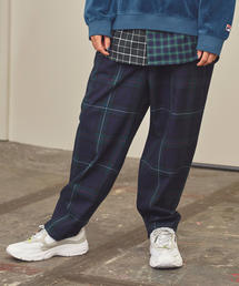 <monkey time> TW TARTAN CHECK WIDE 1P PANTS/チェックパンツ