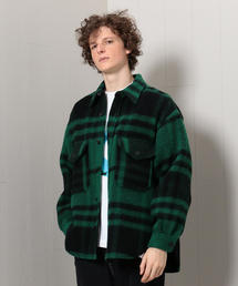 <H>WOOLEN CHECK CPO SHIRT/シャツ
