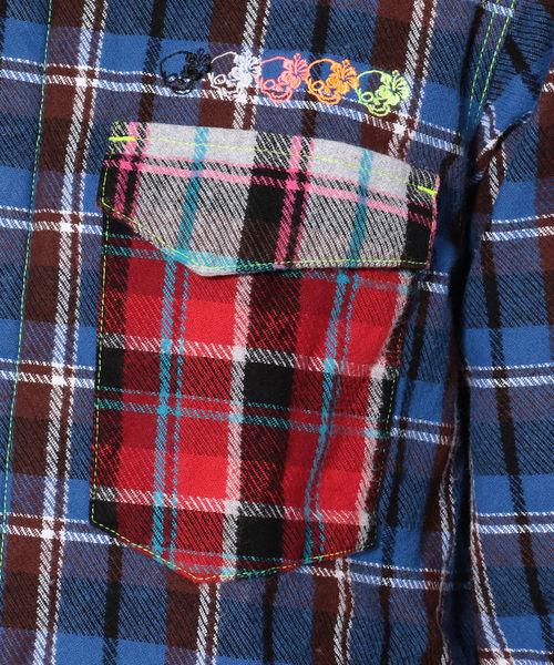 FranCisT_MOR.K.S./フランシストモークス/3MIX HEAVY CHECK LSシャツ/MS2626