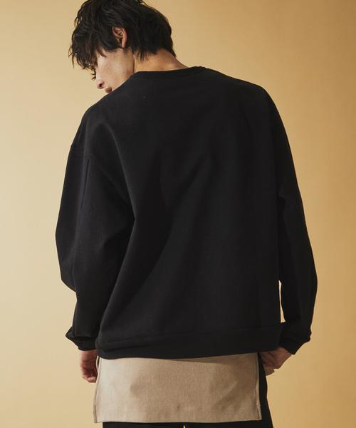 【NUMBER (N)INE】《別注》ヘビーウェイト プレミア裏毛 ビッグシルエット 刺繍 スウェット トレーナー