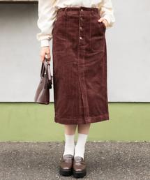 Heather(ヘザー)のオヤココーデュロイIラインスカート 857067(スカート)