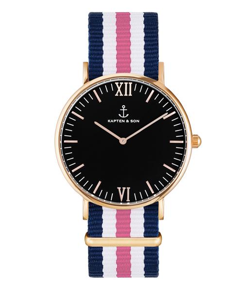 完売 【セール】【KAPTEN&SON】ローズゴールド 40mm ブラック ナイロンバンド(腕時計) KAPTEN&SON(キャプテンアンドサン)のファッション通販, 五十崎町:bac97c1b --- pyme.pe
