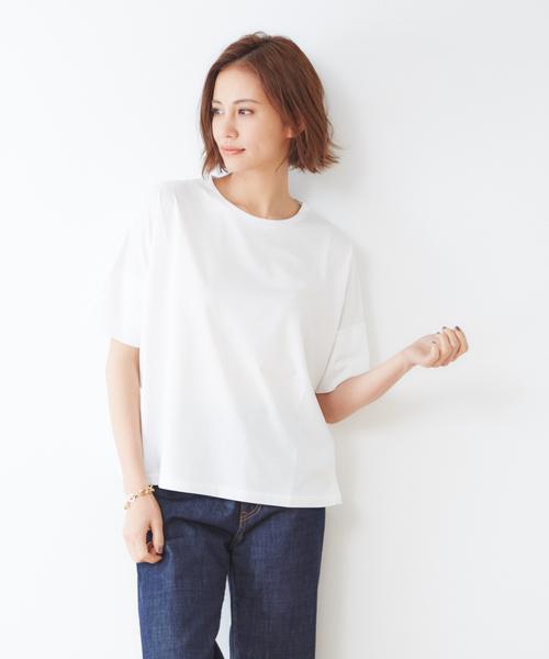 collex(コレックス)の「【接触冷感】人気色再入荷!コットン プルオーバー カットソー(Tシャツ/カットソー)」|ホワイト