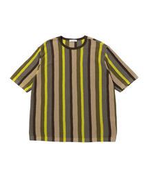 <CMMN SWDN> MULTI ST KNIT TEE/ニットTシャツ