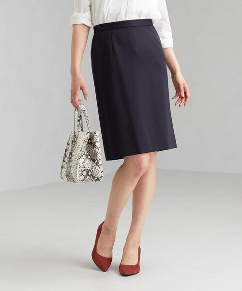 [手洗い可能/ツイルジャージ]◆D セミタイト スカート ※
