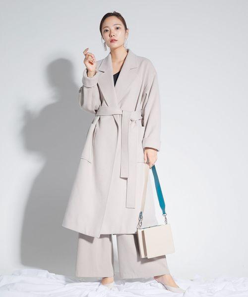 最高級のスーパー リラックスロングガウンウールコート(その他アウター)|LADYMADE(レディメイド)のファッション通販, クロムワールド:c2985a10 --- tsuburaya.azurewebsites.net