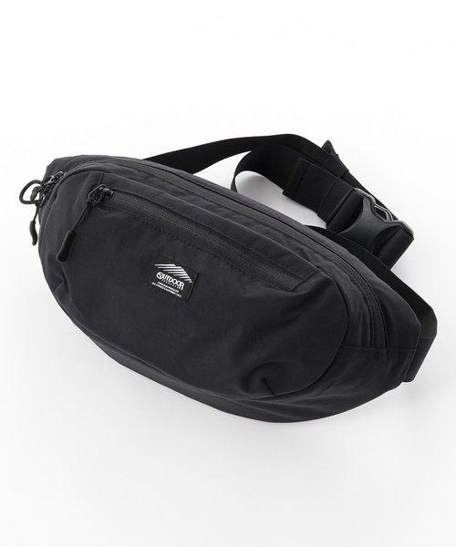 ブラックラインウエストバッグ ボディバッグ 防湿性 透湿性