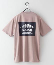 ドライ機能付き(速乾機能)バックプリント(背面)ブランドロゴ/ビッグシルエットTシャツベージュ