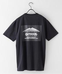 ドライ機能付き(速乾機能)バックプリント(背面)ブランドロゴ/ビッグシルエットTシャツブラック