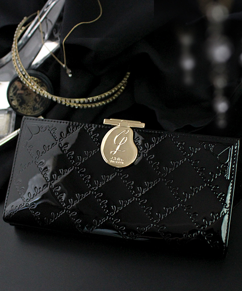 5ba71dbcb272 Clelia(クレリア)の「[Clelia/クレリア] がま口エナメル長財布 レディース