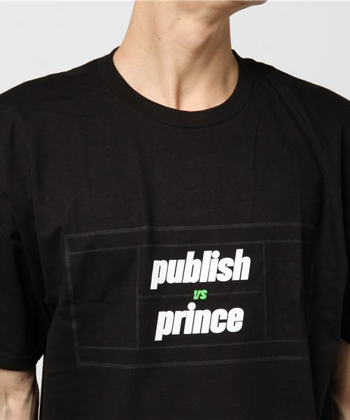 【PUBLISH BRAND vs Prince】VERSUS COURT s/s t-shirt