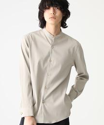 STUDIOUS(ステュディオス)の【STUDIOUS】プレミアムラチネバンドカラーシャツ(シャツ/ブラウス)