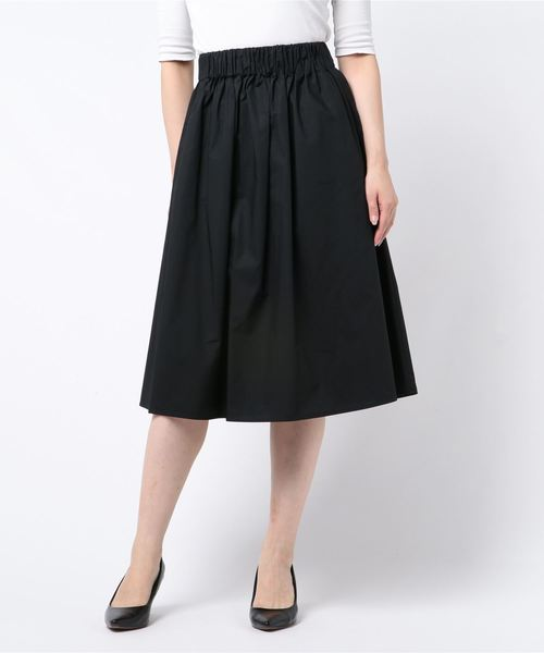 collex(コレックス)の「タイプライターミモレスカート(スカート)」|ブラック