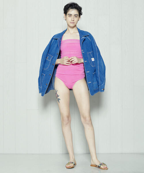 <Pale Swimwear>TULLE ONE PIECE/スイムウェア.