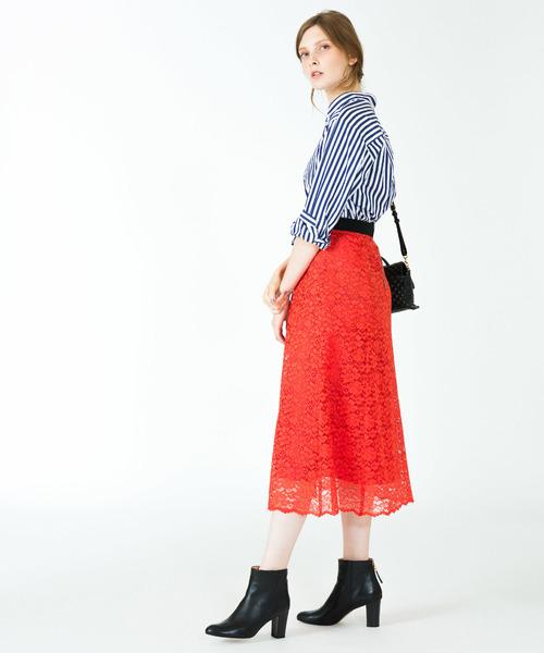 コードレースフレアースカート