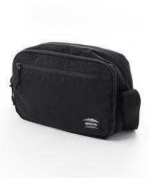 ブラックラインショルダーバッグ 防湿性 透湿性ブラック