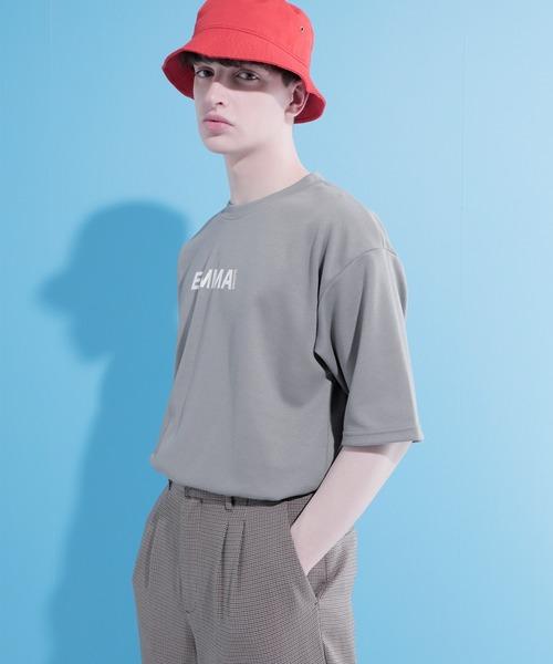 ポンチローマ オーバーサイズ ロゴデザインカットソー 1/2 sleeve(EMMA CLOTHES)