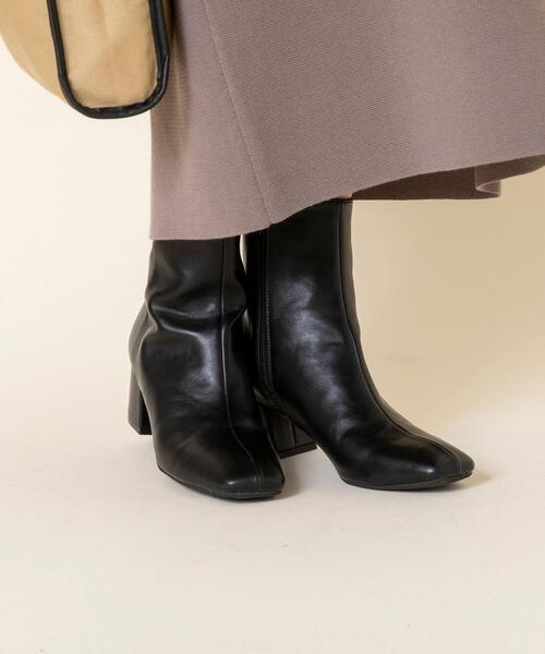 【一部店舗限定】シンプルショートブーツ