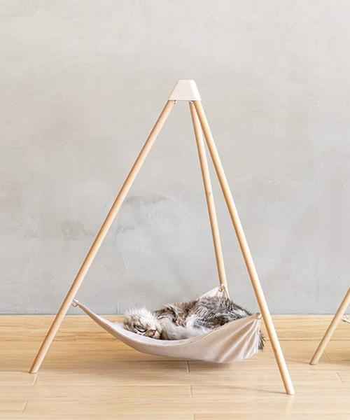 猫用ベッド ハンモック L 木製