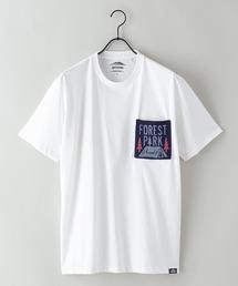 ドライ機能(速乾機能)付き ポケット付きビッグシルエットTシャツホワイト