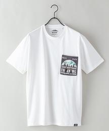 ドライ機能(速乾機能)付き ポケット付きビッグシルエットTシャツオフホワイト
