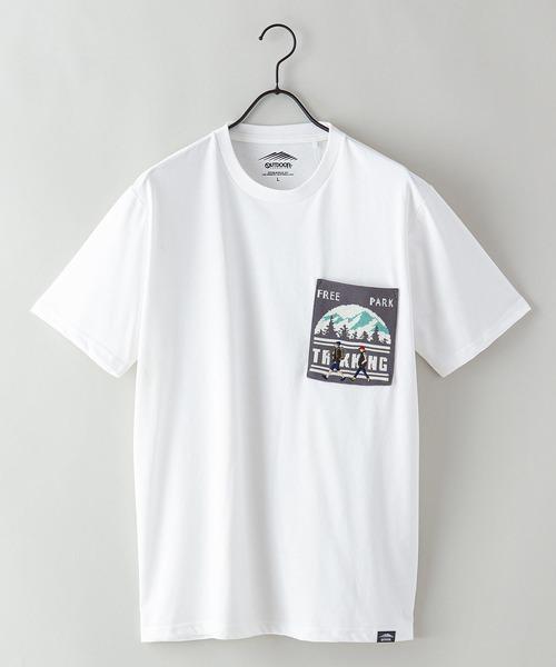 ドライ機能(速乾機能)付き ポケット付きビッグシルエットTシャツ