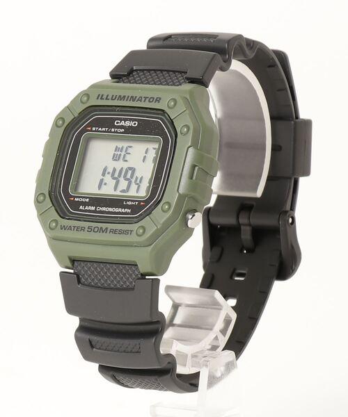【 CASIO / カシオ 】デジタル時計 W218H3A DKS