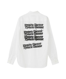 TYPE LOGO レギュラーカラーシャツホワイト