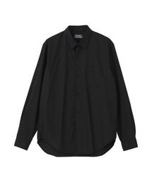 TYPE LOGO レギュラーカラーシャツブラック