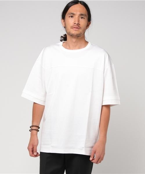 【HAMNETT】 パネルビッグT / Tシャツ