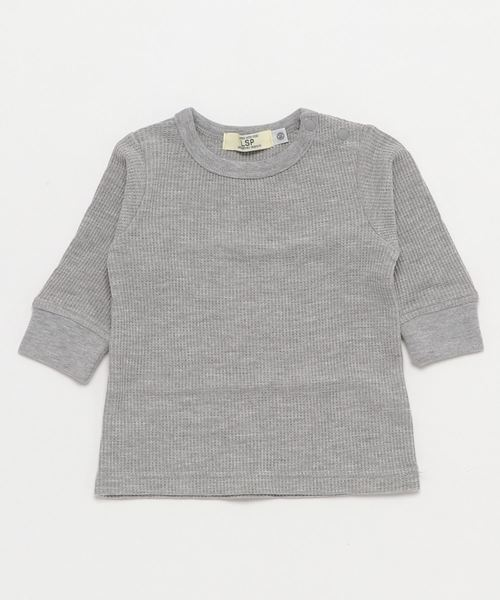 Life Support Products(ライフサポートプロダクツ)の「ワッフル9分袖T(80〜150cm)(Tシャツ/カットソー)」|杢グレー