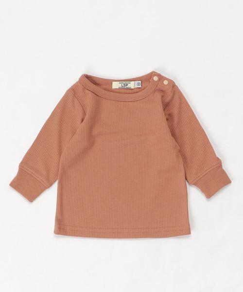Life Support Products(ライフサポートプロダクツ)の「ワッフル9分袖T(80〜150cm)(Tシャツ/カットソー)」|キャメル