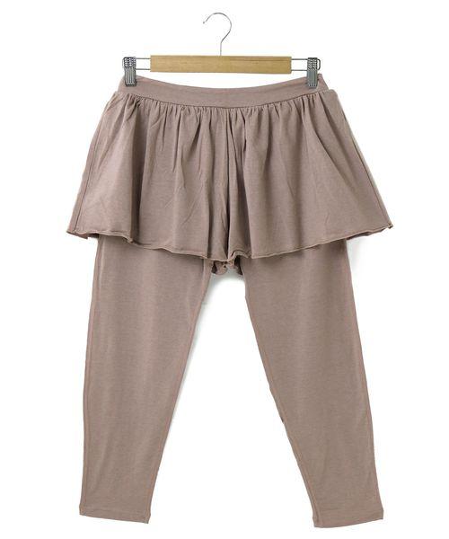 fran de lingerie(フランデランジェリー)の「yoga clothes キュロットつきレギンス(ルームウェア/パジャマ)」|ピンクベージュ