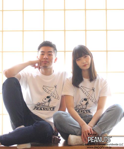 【BURNER × PEANUTS】バーナー × ピーナッツ スヌーピー 別注 半袖プリント Tシャツ BEACH