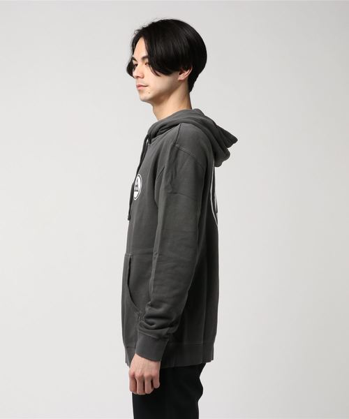 【WELCOME SKATEBOARDS/ウェルカムスケートボード】PigmentDyedHoodie / プリントプルオーバーパーカー