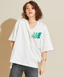 【予約】【別注】<AMERICANA(アメリカーナ)>VネックチュニックTシャツ