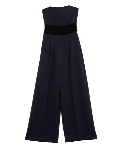 LAGUNAMOON(ラグナムーン)の「LADYステッチベルトワイドパンツドレス(ドレス)」|チャコールグレー
