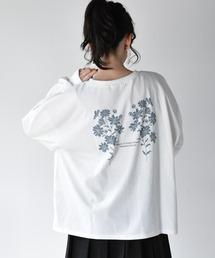 花モチーフロンTeeオフホワイト